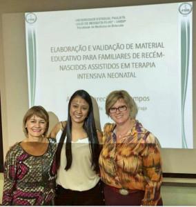 Alessa apresenta o trabalho com as Doutoras Eliana Mara Braga e Janete Pessuto Simonetti Arquivo Pessoal