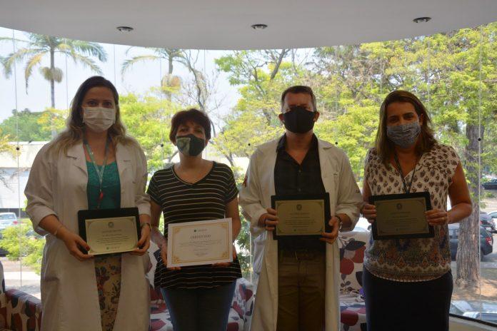 Dr.ª Mônica Bannwart, Dr.ª Patrícia Polla, Dr. Alexandre Naime e Dr.ª Erika Ortolan